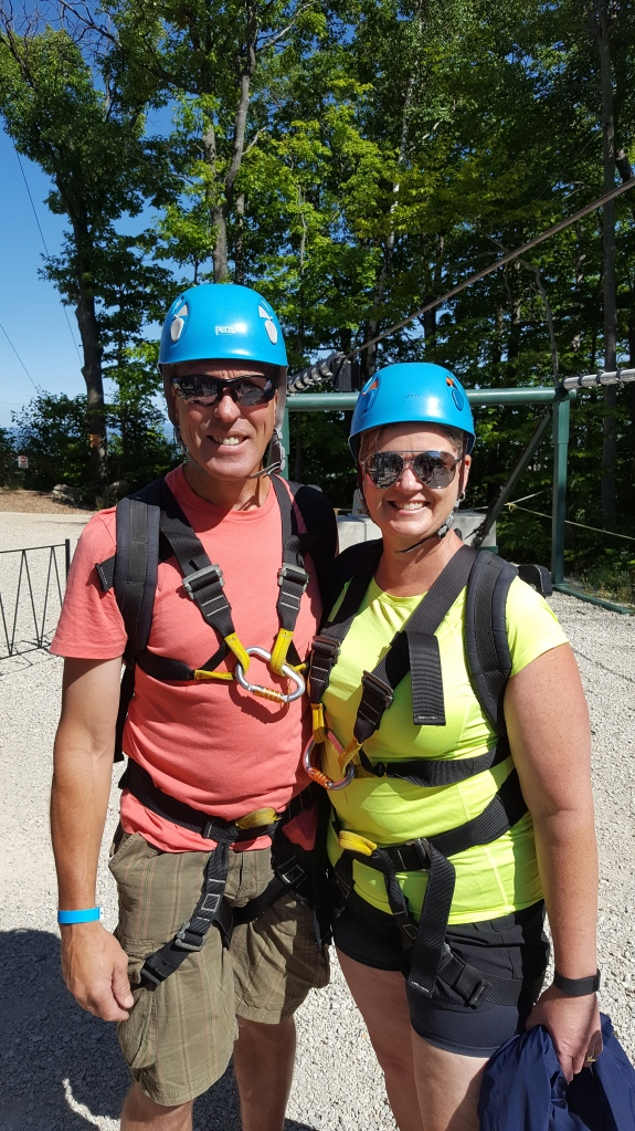 Looking all brave right before the tower ascent!